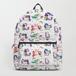 Reading Unicorn Pattern Backpack