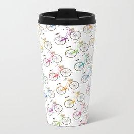 Rainbow Bicycles Metal Travel Mug