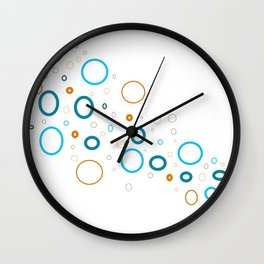 Blue shades with complimentary color of orange shades Wall Clock
