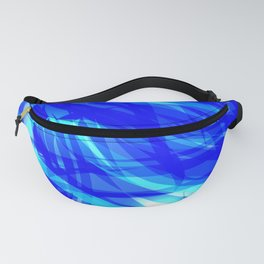 Vector glowing water background made of blue sea lines. Fanny Pack