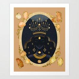 Sagittarius Zodiac Queen | November Birthday | Citrine Birthstone Art Print