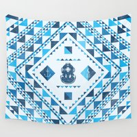 diver Wall Tapestries featuring Diver by parallelish