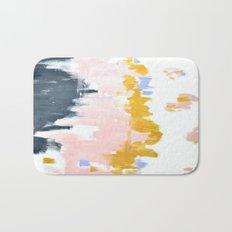 Multicolor spring abstract Bath Mat
