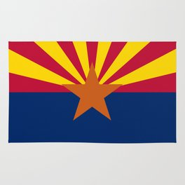 Arizona State flag, Authentic version - color and scale Rug