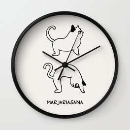 Cat Pose Wall Clock