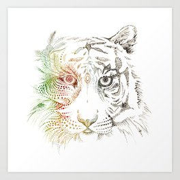 Sumatran Tiger VS Palm Oil Art Print