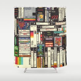 Cassettes, VHS & Games Shower Curtain