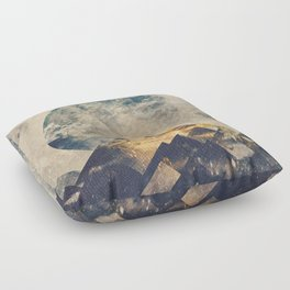 One mountain at a time Floor Pillow
