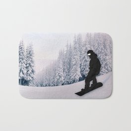 Snowboarding Bath Mat