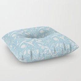 POTTER MAGICAL ITEMS WORLD IN BLUE PASTEL Floor Pillow