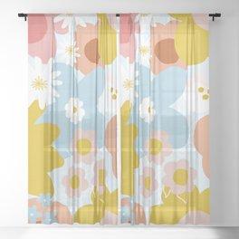 Bohemian bloom Sheer Curtain