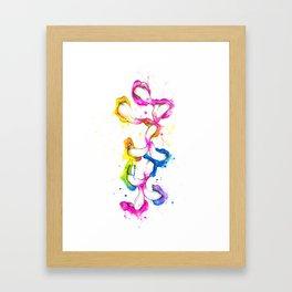 Dribble Framed Art Print