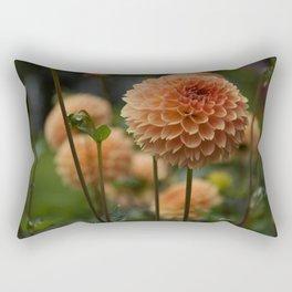 Orange Dahlia Rectangular Pillow