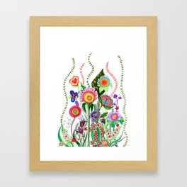 FLOWERS IN MEXICO Framed Art Print