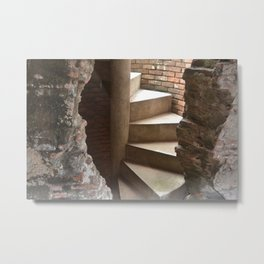 Hidden and Revealed Stairs Metal Print