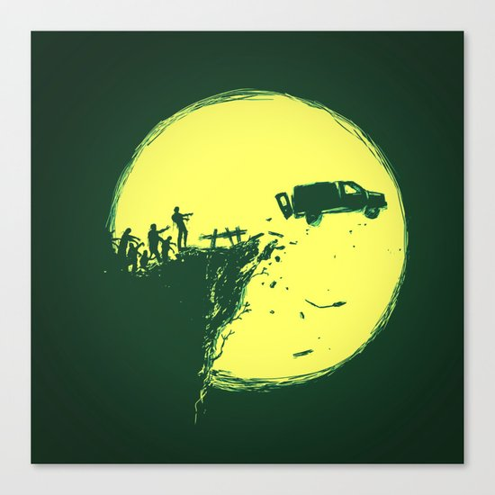 Zombie Invasion Canvas Print