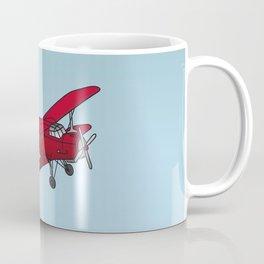Red biplane Coffee Mug