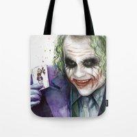 joker Tote Bags featuring Joker  by Olechka