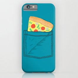 Emergency supply - pocket pizza iPhone Case