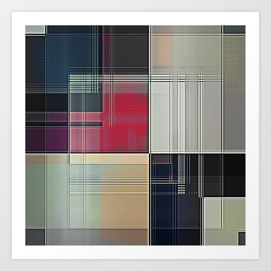 Lines/Abstract Q1 Art Print