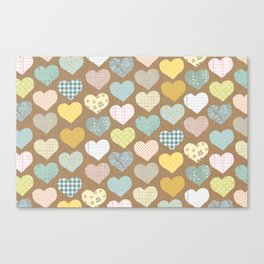 hearts pattern Canvas Print