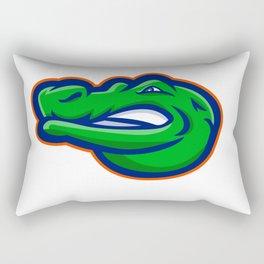 Alligator Head Mascot Rectangular Pillow