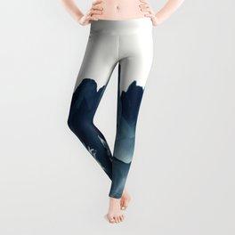 Blue Paeonia #1 Leggings