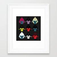 gorillaz Framed Art Prints featuring Gorillaz by DexDexign