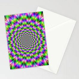 Pink and Green Neon Stationery Cards