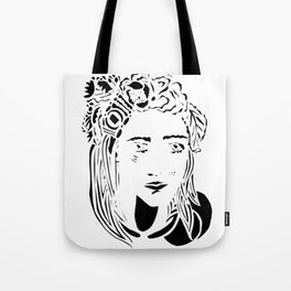 Paper Cut - Woman No. 1 --1 Tote Bag