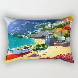 Tardis And The Beach Rectangular Pillow