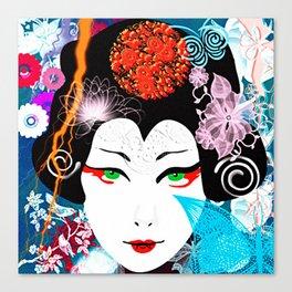 Geisha Queen Canvas Print