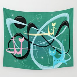 Atomic Rocket Cats In Space Wall Tapestry