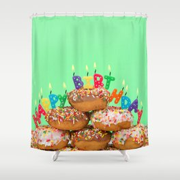 Donut Birthday Party Shower Curtain