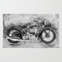 Vintage Motorcycle No2 Rug