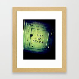 CitY. Framed Art Print