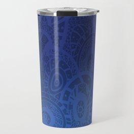 Indigo Zentangle Travel Mug