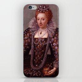 Portrait of Queen Elizabeth I iPhone Skin