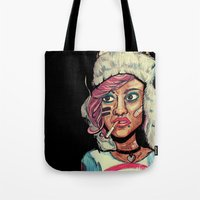 tank girl Tote Bags featuring Tank Girl by N3RDS+INK
