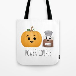 Pumpkin + Spice = Power Couple Tote Bag