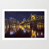 Pittsburgh After Dark Art Print