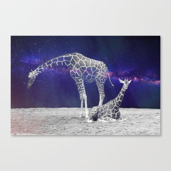 Giraffes on The Moon #society6 #artprints #buyart Canvas Print