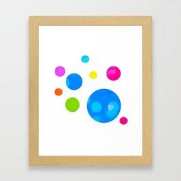 Colorful Bold Bubble Design Framed Art Print