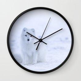 Arctic Fox 2 Wall Clock