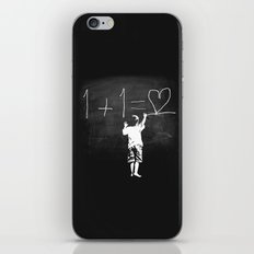 One Plus One Equals Love iPhone & iPod Skin