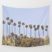 palms Wall Tapestries featuring Palms by A. Williams