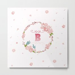 Letter B Metal Print