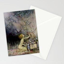 """Pandora Opens the Box"" by Arthur Rackham Stationery Cards"