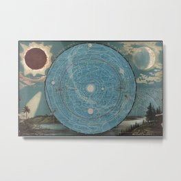 Planetary System. Eclipse of the Sun. The Moon. The Zodiacal Light. Meteoric Shower. Metal Print