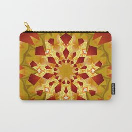 Golden Rays Abstract Mandala Carry-All Pouch